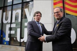 Torra y Puigdemont se reúnen en Waterloo en plenas negociaciones por la investidura