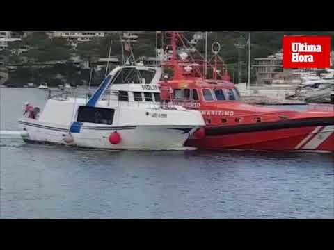 Salvamento Marítimo remolca un barco de pesca en el Port d'Andratx