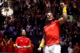 Rafael Nadal conduce a España a su décima final de la Copa Davis