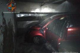 Incendio en un garaje subterráneo de Palma