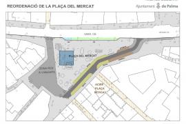 La Plaça del Mercat y la calle Unió se cierran al tráfico a partir del 9 de diciembre