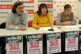 Los sindicatos convocan una manifestación el próximo domingo  en Palma contra los recortes