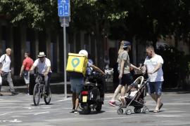 Los repartidores de Glovo en Baleares, entre los que más ganan