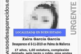 Localizada en buen estado la menor desaparecida en Palma