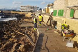 Cort aprueba esta semana las obras de reparación del paseo de Cala Gamba