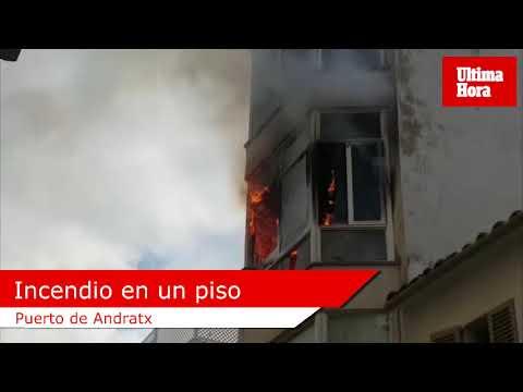 Desalojado un edificio del Puerto de Andratx al declararse un incendio en un segundo piso