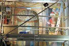 El retablo de Sant Francesc de Santa Margalida recupera su esplendor