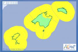 Alerta en Ibiza por fuertes lluvias y mala mar