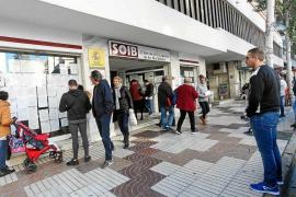 Baleares lidera el aumento del paro en noviembre