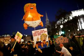 Miles de personas protestan en Londres contra la OTAN y Trump