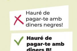 Polémica por una campaña de Cort contra el racismo en la que se valida el 'pago en B'