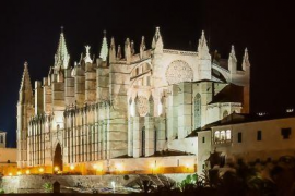 Cinco entidades alertan de que poner luces LED en La Seu «hará perder riqueza arquitectónica»