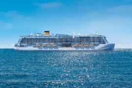 El 'Costa Smeralda', un megacrucero 'verde', llega a Palma en su primer viaje