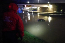 Inundaciones en Navarra por la importante crecida de los ríos