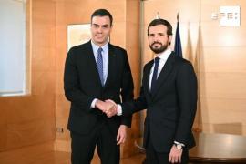 Sánchez inicia con Casado la ronda de contactos