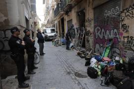 Desalojo judicial de una decena de okupas en el centro de Palma