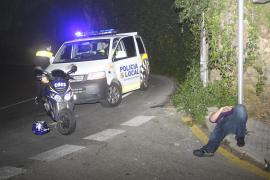 Detenido un motorista ebrio que se durmió cuando circulaba por la Bonanova