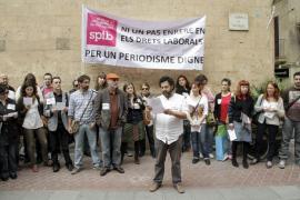 Unos 70 periodistas se concentran en Palma  por la «situación dramática» que viven los medios