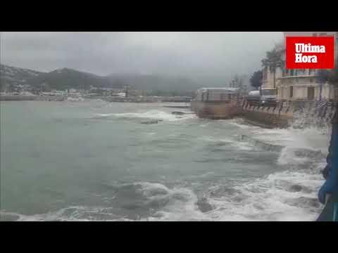 Elsa trae a Mallorca rachas de viento de hasta 120 kilómetros por hora