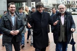 Carles Puigdemont, Toni Comin y Lluis Puig