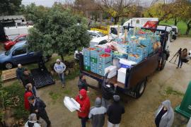 Asaja destina ocho toneladas de comida para el centro de acogida Ca'n Gazà