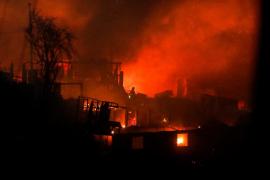 Pavoroso incendio en Valparaíso durante la Nochebuena