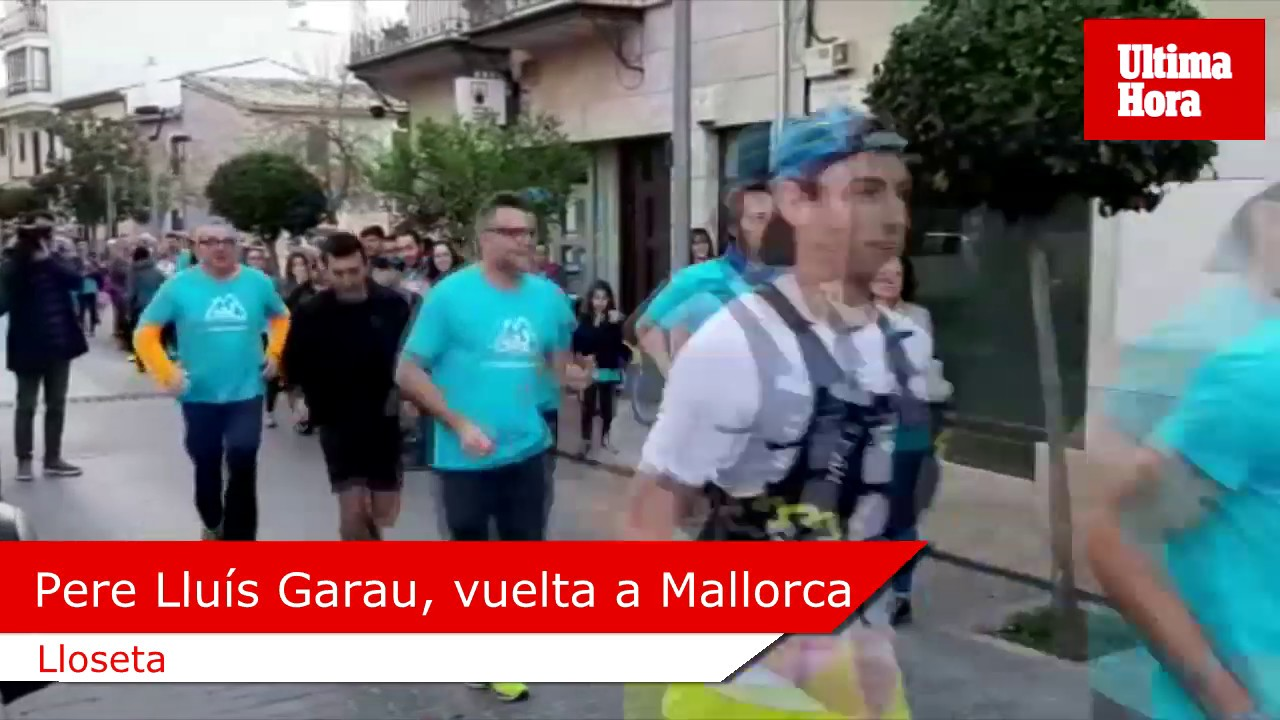 Pere Lluís Garau inicia desde Lloseta la vuelta a Mallorca corriendo