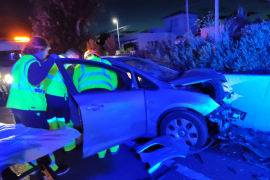 Dos heridos graves en un choque frontal en la carretera de Sóller
