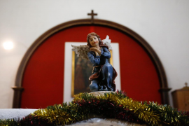 El belén inspirado en el poblado de Sant Llorenç, en imágenes (Fotos: Arguiñe Escandón).