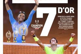 Rafael Nadal y Simone Biles, Campeones de Campeones en 2019 para 'L'Équipe'