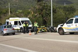 Herido un motorista tras sufrir un accidente en la carretera de Andratx