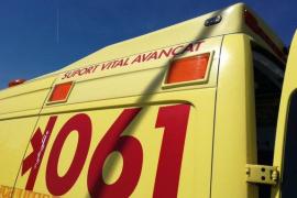 Herido grave un motorista en un accidente en el polígono de Son Castelló