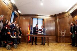 Firma del programa de gobierno PSOE-Unidas Podemos