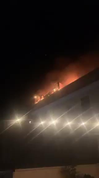 Incendio en el Pont d'Inca