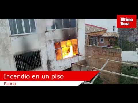 Incendio en un piso de Palma en el que dormían 7 personas