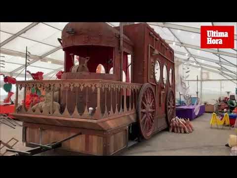 Las carrozas de los Reyes Magos, a punto para la Cabalgata de Palma