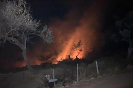 Una quema incontrolada provoca un incendio forestal en s'Illeta de Sóller