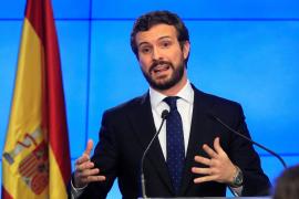 Casado denuncia que el pacto PSOE-ERC liquida la soberanía nacional