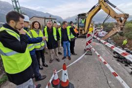 Reabren la carretera Sóller-Fornalutx, cerrada por un desprendimiento