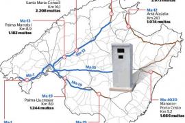 El 69 % de las multas de radar por exceso de velocidad en Mallorca se imponen en Calvià