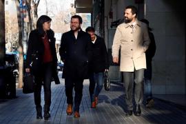 Marta Vilalta, Pere Aragonés y Roger Torrent