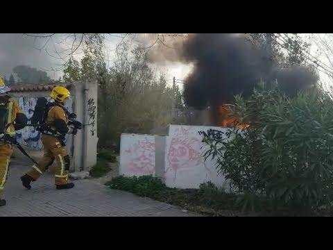 Investigan un posible incendio intencionado en el Polígono de Son Rossinyol