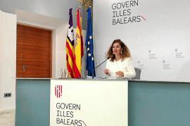 Pilar Costa, portavoz del Govern, ayer en la rueda de prensa del Consell de Gover