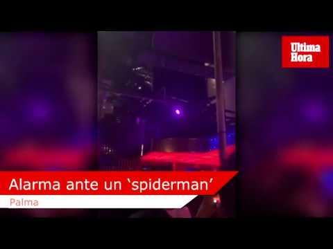 Alarma en el Paseo Marítimo de Palma ante un 'spiderman' encaramado a la fachada de una discoteca