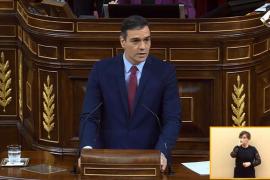 Sánchez pide la confianza a la Cámara y asegura que es la única opción de gobierno posible