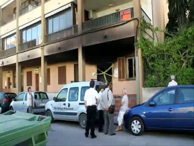 Un incendio destruye un local parroquial de Can Pastilla lleno de ropa para necesitados