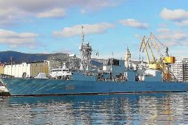 La fragata canadiense 'Halifax' visita Palma