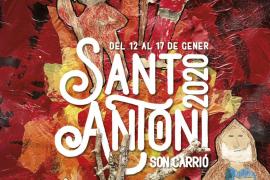 Sant Antoni tiñe de rojo y negro Son Carrió