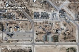 Daños a hangares en una base atacada por Irán