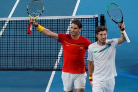 Rafael Nadal y Pablo Carreno en la ATP Cup